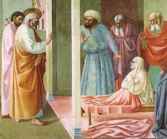 Peter Raises Tabitha Dorcas From the Dead