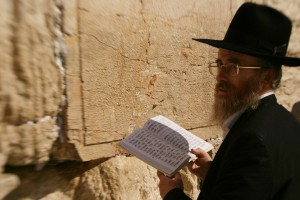 Jewish man at the Western Wall.