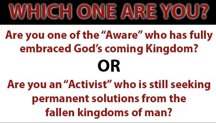 "Are You an ""Activist"" or One of the ""Aware?"""